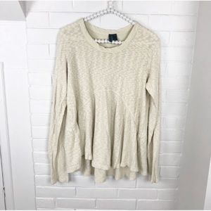 {Left of Center} Anthropologie Knit Thermal Top